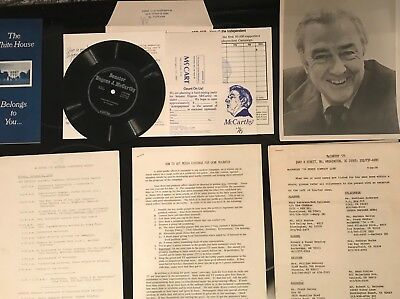 EUGENE MCCARTHY 76 Presidential Campaign Press Photos Staff Materials 45  RPM +