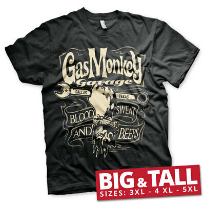 Official Licensed Gas Monkey Garage (GMG) - Wrench Label 3xl, 4xl, 5xl T-Shirt