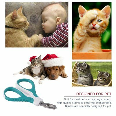 Stainless Steel Pet Dog Cat Nail Clippers Toe Claw Scissors Groomer Cutter NS
