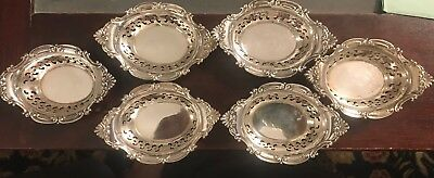 6-sterling Silver Tiny Finger Bowls. 23 Grams Each Very Attractive Pieces