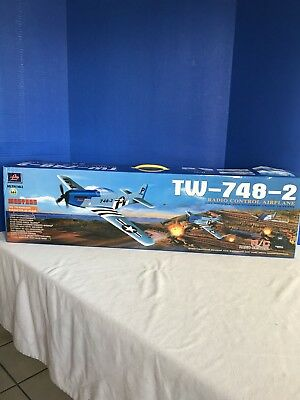 New In Box Lanyu P-51 R/C Remote Control Airplane TW-748-2 Mustang