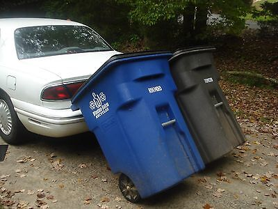Trash Tow Garbage Hauler, Pull Carts Cans use Car or SUV No Hitch Needed!