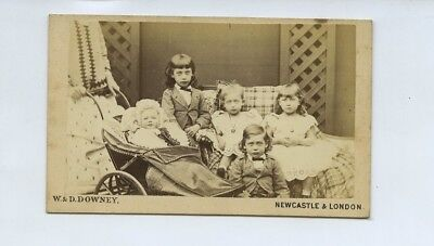 Children Of Prince Of Wales - Albert Victor & George etc c1870s CdV Photo