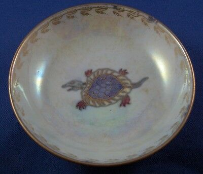 Antique Wedgwood English Luster Porcelain Small Bowl Dish England Blue & Gold