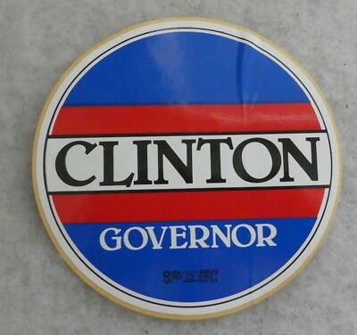 Vintage 1990 Clinton Governor Red, White And Blue Large Decal