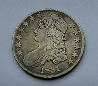 1831 Capped Bust Half Dollar, Tough Early Silver Half Dollar!