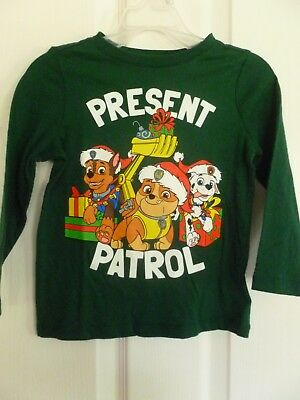 Paw Patrol Christmas Shirt, Green, Size 2T or 12-18 month,  NWT   C6