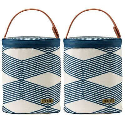 2x JJ Cole Cooler Insulated Thermo Bag w/Ice Pack for Baby Bottle/Sippy Cup Navy