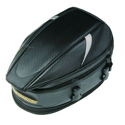 LARGE SEAT PILLION BAG ROLL TOP TAIL PACK Motorcycle Luggage Touring Tail Bag
