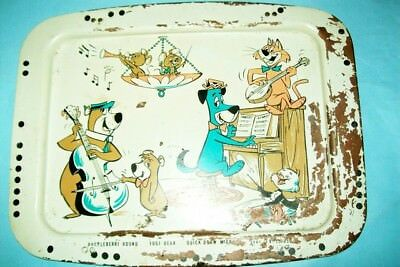 Vintage 1961 Huckleberry Hound TV Lap Tray with Yogi, Pixie & Dixie and Jinks