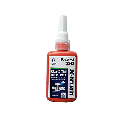 Medium Strength Permanent Thread Locker Replace Loctite Adhesive - 50g Blue