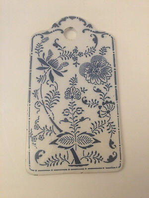 Antique Blue Onion Porcelain Cutting Board