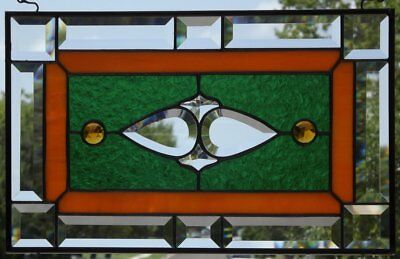 Sweet Pea Beveled Stained Gl Window Panel 16 3 8