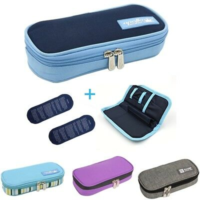 Insulin Cooler Travel Case Diabetic Medication Cooling Pouch with 2 Ice Pack