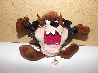Looney Tunes Tazmanian Devil Plush Keychain With Leather Jacket Zip Pouch