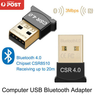 Wireless USB Bluetooth Adapter V4.0 Dongle Receiver COMPUTER WIN 7 8 10 XP VISTA
