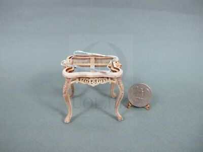 Unfinished 1:12 Scale Miniature Wooden Cross End Table For Dollhouse