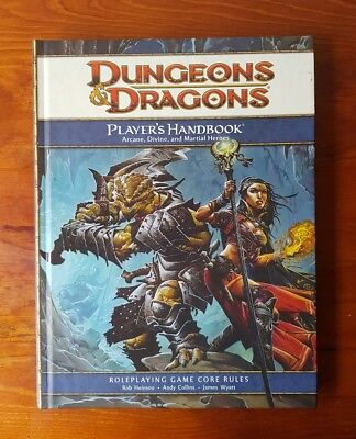 Dungeons & Dragons Players Handbook D&D D20 Core Rules Arcane Divine Heroes 4th