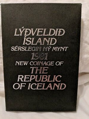 1981 The Republic of Iceland Proof Coin Set