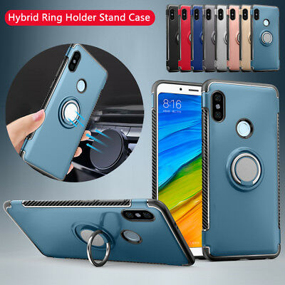 For Xiaomi Redmi Note 5 Pro 5A Prime Plus Hybrid Magnetic Ring Stand Case Cover
