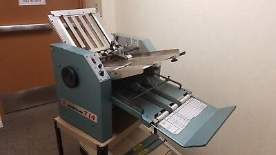Baumfolder Baum Folder 714 14X20 Friction Feed Table Top Multi Paper Folder