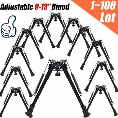 "Lot Tactical 9-13""Adjustable BLK Spring Return Rest Sniper Hunting Rifle Bipod B"