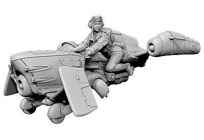1/35 Female Pilot with the Hover Bike unpainted unassembled BL284