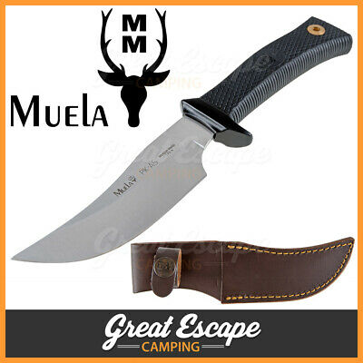 Muela Skinner Knife PIK-AS with Leather Sheath. Made in Spain