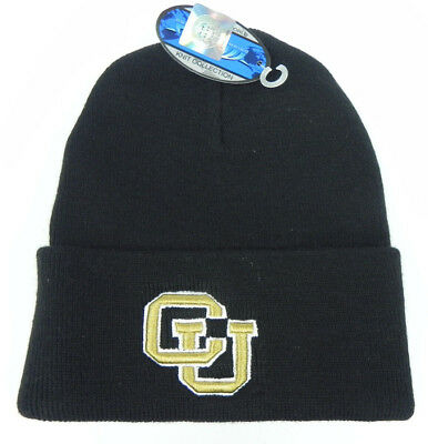 online store 62ed6 08c29 Colorado Buffaloes Black Ncaa Beanie Top Of The World Simple Knit Cap Hat  Nwt