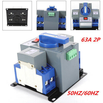 63A 2P 50HZ/60HZ Dual Power Automatic Transfer Switch CB Level For Generator !!
