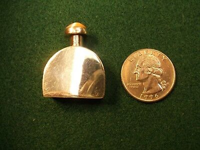 Very Nice Little Vtg? Sterling Silver Perfume Bottle With Pink Glass Cabochon