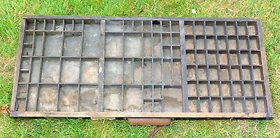 Vintage Wooden Typecase Tray Draw Letterpress printer # adana  8x5 user #00010#