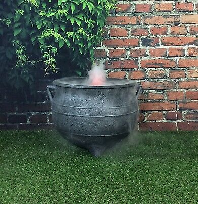 Witches Ultra Sonic Mist Maker Halloween Cauldron 18 Inch Cast Iron Effect