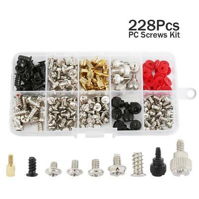 228pcs Computer PC Screws Kit for Motherboard Case Fan CD-ROM Hard Disk Notebook