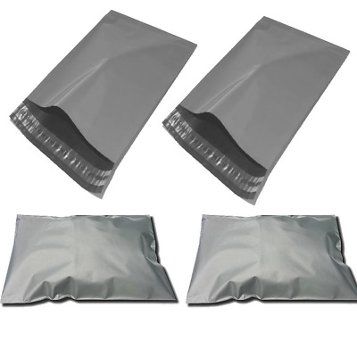 90 Strong Grey Mailing Packaging Plastic Bags Large Size 10' x 14' QUICK POSTAGE