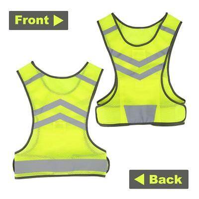 Safety High Visibility Reflective Running Vest Jacket Jogging Cycling Walking