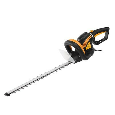 Corded Electric Hedge Trimmer Cutting Blade 55cm & 10m Cable Garden Mower Tools
