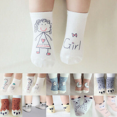 Newborn Baby Boy Girl Kids Socks Lovely Cartoon Cotton Ankle Socks 0-3 Years