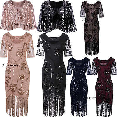 1920s Flapper Costumes Great Gatsby Party Prom Evening Gowns Cocktail Dress 6-20
