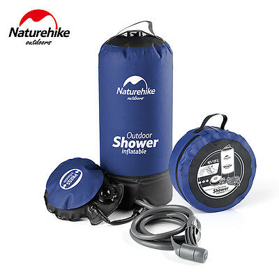 Portable Pressure  Camp Shower with Foot Pump Pressurized Water Bag Hiking Gear