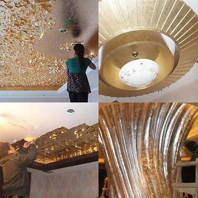 100 Sheets Newest Gold Leaf Leaves Foil Paper Gilding Wrapping Art Craft C