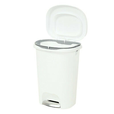 RUBBERMAID TRASH CAN 13 Gal Kitchen Home Step On Waste Garbage Bin Basket White
