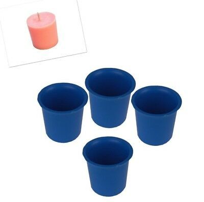4 x Votive Candle Making Moulds, UK Made, Rigid Plastic, Craft. S7619