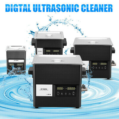 2/3/6/9L Digital Ultrasonic Cleaner Stainless Bath Cleaning Tank Timer Heat UK