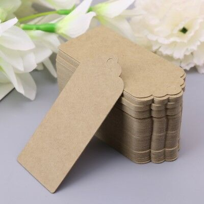 100pcs Brown Kraft Paper Gift Tags Wedding Scallop Label Blank Luggage Tag