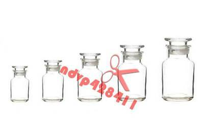 60-2500ml Clear Glass Jar Wide Mouthed Reagent Bottle Chemical Experiment Ware