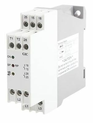 GIC Thermistor Monitoring Relay with SPDT Contacts, 3 Phase, 400 V ac