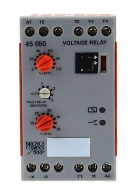 Broyce Control Voltage Monitoring Relay with SPDT Contacts, 1 Phase, 24 V ac