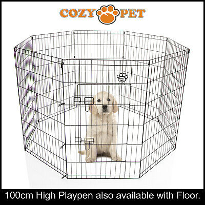 Cozy Pet Playpen Dog Rabbit Puppy Play Pen Cage Folding Run Fence crate PP04