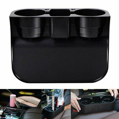 Car Cleanse Seat Drink Cup Storage Holder Travel Food Coffee Bottle Stand Black